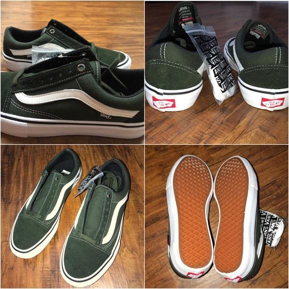 07e6a9fd707e NEW dark olive green old skool vans PRO. M 5a9e59702ae12f6a418c3fcc